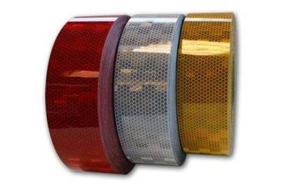 Reflecterende tape rood 50 mm. per meter (4001154)